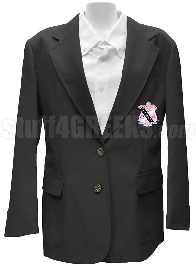 Kappa Alpha Lambda Blazer Jacket with Crest, Black