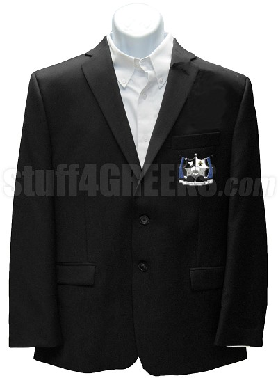 Kappa Chi Phi Blazer Jacket with Crest, Black