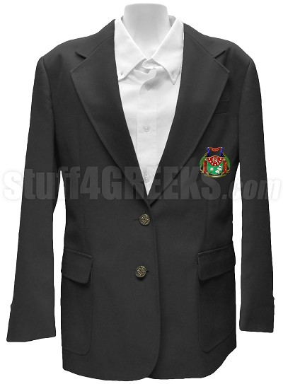 Kappa Lambda Delta Blazer Jacket with Crest, Black