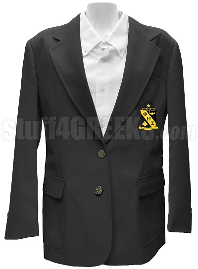 Phi Eta Sigma Ladies Blazer Jacket with Crest, Black