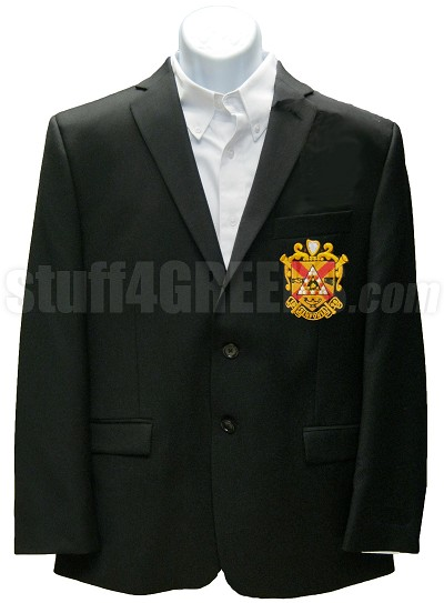 Phi Mu Alpha Blazer Jacket with Crest, Black