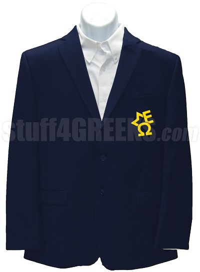 Sigma Epsilon Omega Blazer Jacket with Crest , Navy Blue