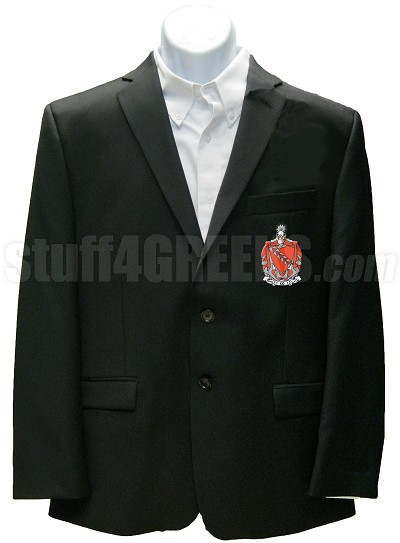 Tau Kappa Epsilon Blazer Jacket with Crest, Black