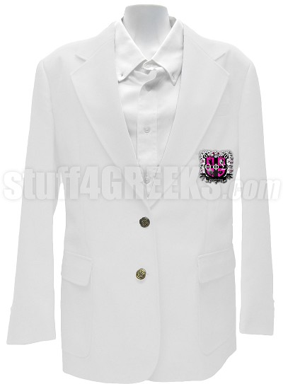 Theta Phi Sigma Blazer Jacket with Crest, White