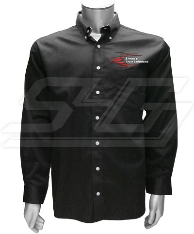 Personalized Embroidered Mens Button-Down Shirt