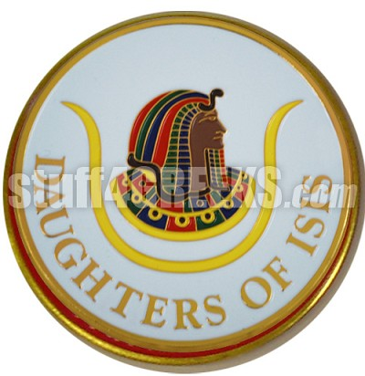 Daughters of Isis Round Crest Car Emblem