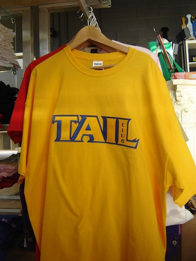 ONLY ONE LEFT: Sigma Gamma Rho Tail Club shirt, Yellow Gold, Size 3XL - MAKE AN OFFER