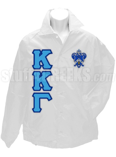 Kappa Kappa Gamma Line Jacket with Letters and Crest, White