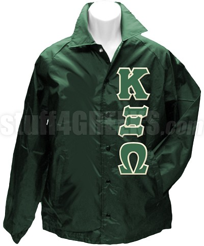Kappa Xi Omega Greek Letter Line Jacket, Forest Green