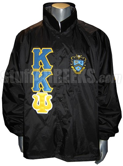 Black Kappa Kappa Psi Line Jacket with Letters and Crest Only