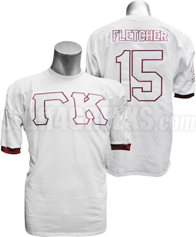 Fraternity/Sorority Standard Custom Crossing Jersey: Includes Front, Left Sleeve, Right Sleeve, Back Line Name, and Back Line Number