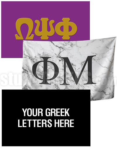 Custom Greek Letter Flag (3 ft. x 5 ft.)