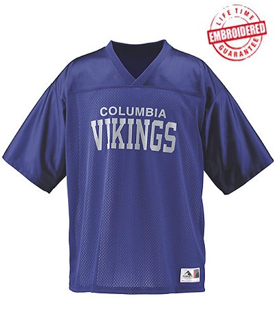 Personalized FratBrat Embroidered Football Jersey - EMBROIDERED with Lifetime Guarantee (AUG)