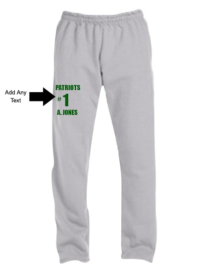 Custom Screen Printed Sweatpants with Text (AB)