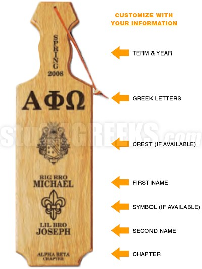 Custom Wooden Laser Engraved Paddle with Crossing Information (CQ)