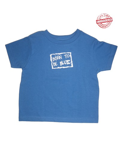 Born Blue (Phi Beta Sigma) T-shirt -EMBROIDERED with Lifetime Guarantee