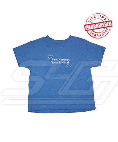 I love Mommy's Doves and KisseZ Zeta Phi Beta T-Shirt - EMBROIDERED with Lifetime Guarantee