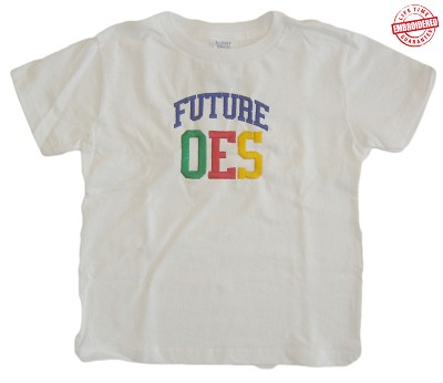 Future OES (Order of Eastern Star) T-shirt - EMBROIDERED with Lifetime Guarantee