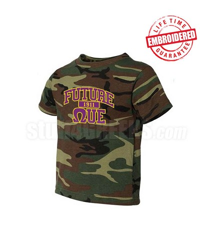 Future Que Camo T-shirt - EMBROIDERED with Lifetime Guarantee