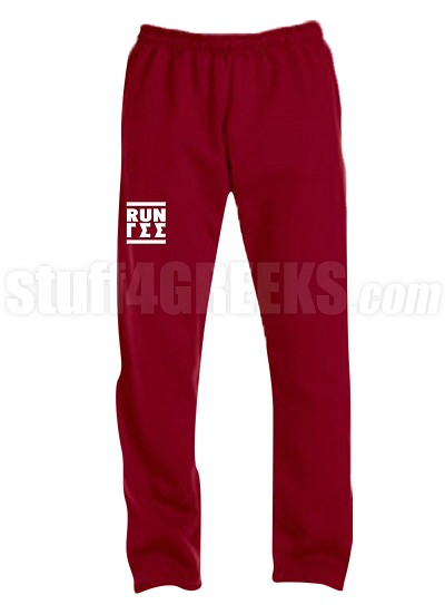 Gamma Sigma Sigma Run DMC Screen Printed Sweatpants, Maroon (AB)