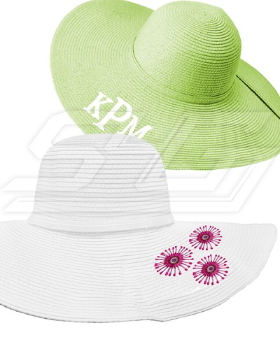 Personalized Floppy Hat with Embroidery