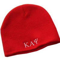 Kappa Alpha Psi Knit Beanie Hat, Red