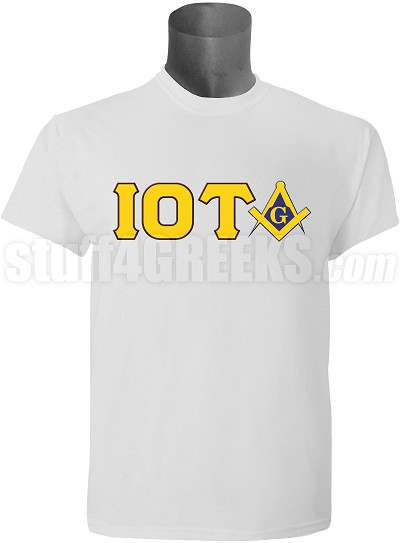 Iota Phi Theta/Mason Square and Compass T-Shirt, White