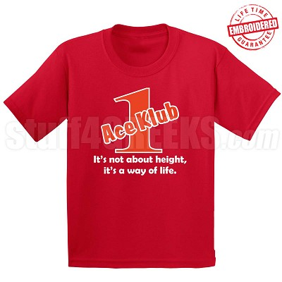 Red/White Ace Klub (Generation 1) T-Shirt, Red - EMBROIDERED with Lifetime Guarantee