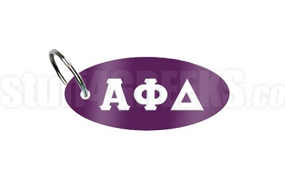 Alpha Phi Delta Key Chain with Greek Letters, Purple