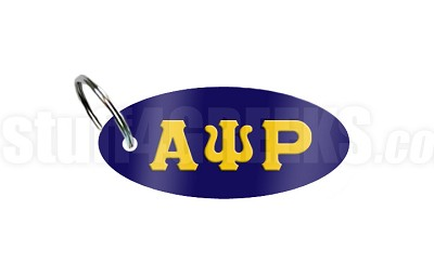 Alpha Psi Rho Key Chain with Greek Letters, Navy Blue