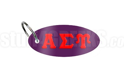 Alpha Sigma Upsilon Key Chain with Greek Letters, Purple