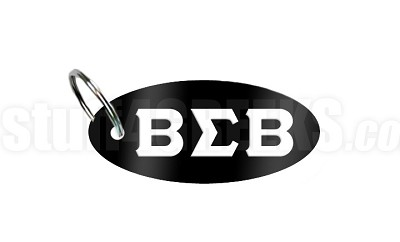 Buffalo Soldier Key Chain with Greek Letters, Black