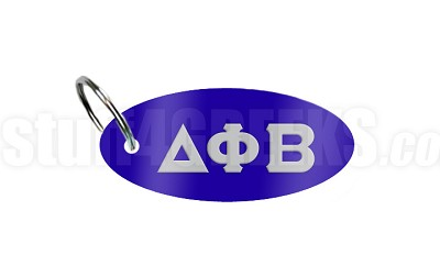 Delta Phi Beta Key Chain with Greek Letters, Royal Blue