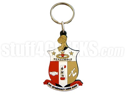 "Kappa Alpha Psi 2.5"" PVC Key Chain with Shield, Full Color"