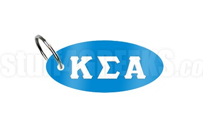 Kappa Sigma Alpha Key Chain with Greek Letters, Light Blue