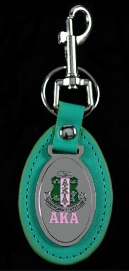 Alpha Kappa Alpha Leather Fob Key Chain