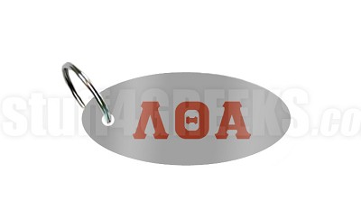 Lambda Theta Alpha Key Chain with Letters, Gray
