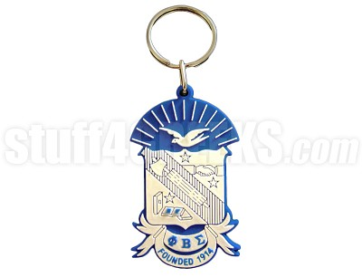 "Phi Beta Sigma 2.5"" PVC Key Chain with Shield, Full Color"