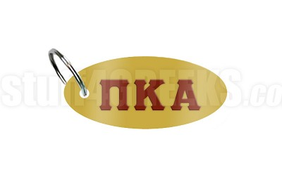 Pi Kappa Alpha Key Chain with Greek Letters, Gold