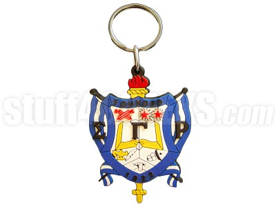 "Sigma Gamma Rho 2.5"" PVC Key Chain with Shield, Full Color"