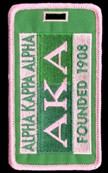 Alpha Kappa Alpha 1908 Luggage Tag
