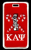 Kappa Alpha Psi Luggage Tag with Phi Nu Pi Kanes
