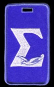 Phi Beta Sigma Luggage Tag with Dove