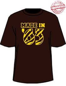 MADE IN... Shirt - Brown/Gold (Iota) - EMBROIDERED with Lifetime Guarantee