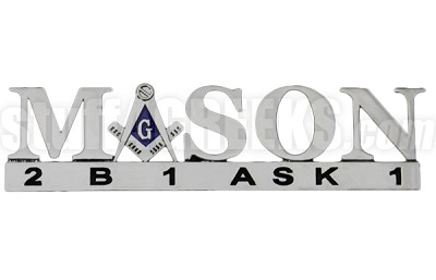 Mason Chrome Letters Car Decal (NS)
