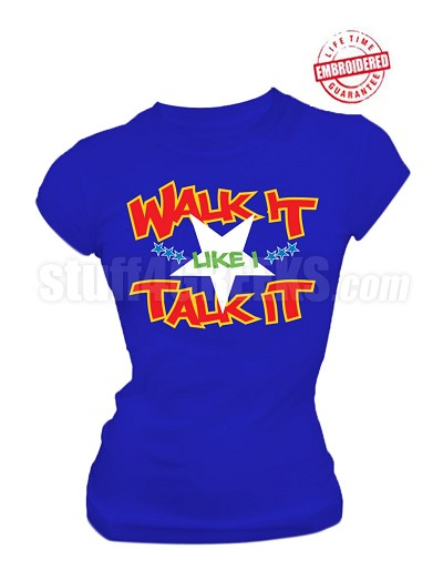 "Order of the Eastern Star ""Walk It Like I Talk It"" Embroidery, BLUE with Lifetime Guarantee"
