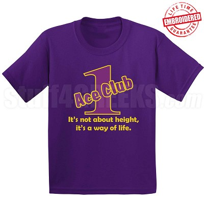 Purple/Old Gold Ace Club (Generation 1) T-Shirt, Purple - EMBROIDERED with Lifetime Guarantee