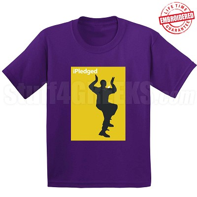 iPledged Omega Psi Phi T-Shirt, Purple - EMBROIDERED with Lifetime Guarantee
