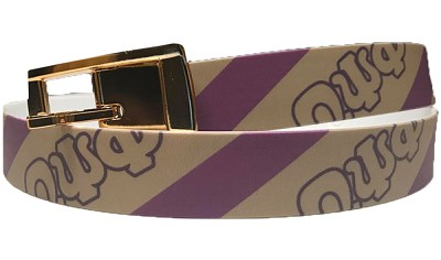 Omega Psi Phi Full -Color Belt with Stripes, Purple/Old Gold (C4)
