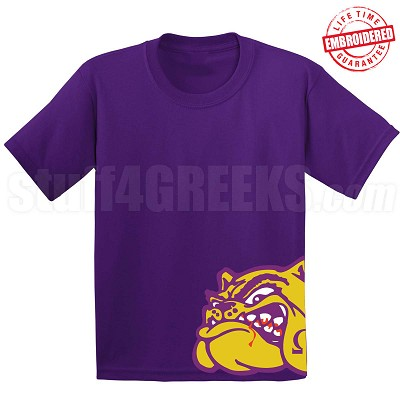 Omega Psi Phi Mascot T-Shirt, Purple - EMBROIDERED with Lifetime Guarantee